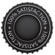 Black satisfaction label - Stock Vector