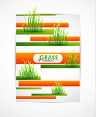 Abstraktní trávy na pruhy — Stock vektor