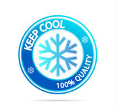 Keep cool — Vettoriale Stock