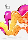 流动的颜色抽象背景 — 图库矢量图片
