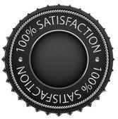 Zwarte tevredenheid etiket — Stockvector