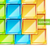 Color glossy vector tiles background — Stock Vector