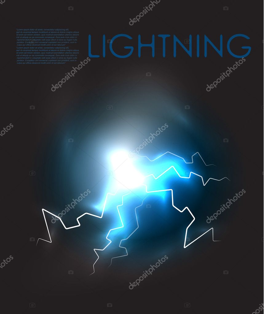 Lightning bolt energy background. EPS10 — Stock Vector #9161532