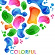 Colorful bubble background - Image vectorielle
