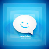 Blue speech bubble background — Vector de stock