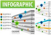 Calendar infographics — Stock Vector