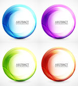 Swirl symbol, icon, background set — Stock Vector