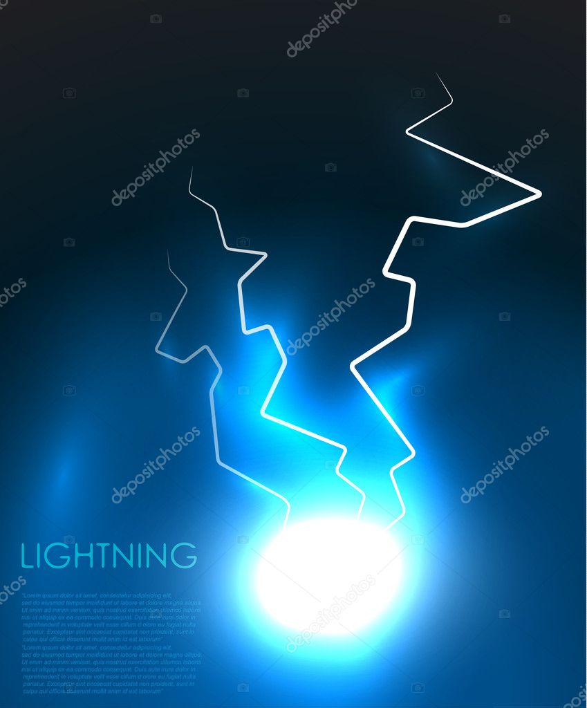 Lightning bolt energy background. EPS10 — Stock Vector #9170005