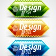 Glossy labels — Stock Vector