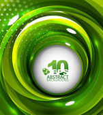 Green swirl background — Stock Vector