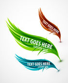 Abstract wave text line — Stock Vector