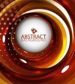 Abstract orange swirl background — Stock Vector