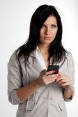 Der empfang von sms — Stockfoto