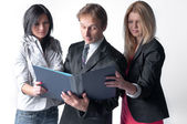 Un team di business — Foto Stock
