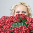 Girl and flowers — Stock Photo #9044101