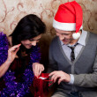 A couple celebrates Christmas — Stock Photo #9213687