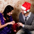 Royalty-Free Stock Photo: A couple celebrates Christmas