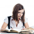 A young girl student — Stock Photo