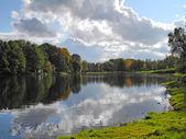 Māras Pond in autumn — Foto de Stock
