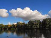 Māras Pond and autumn — Stock Photo