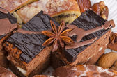 Poppy-seed cakes and gingerbreads — Stock Photo