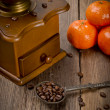 Rustic coffee grinder — Stock Photo