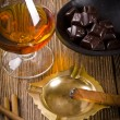 Stock Photo: Chocolate with brandy
