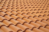 The new brown tiled roof. Background. — Stock Photo