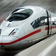 Modern Fast Passenger Commuter Train in the Station with Motion Blur — Stock Photo #10248687