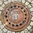 Man hole cover in Munchen , Germany — Stock Photo
