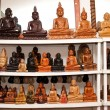 Buddha statues for selling at the shop - Stok fotoğraf