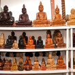 Buddhstatues for selling at shop — Stockfoto #8083600
