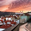 Panorama of the Old Town in Prague in sunset (Czech Republic) — Stock Photo #8897938