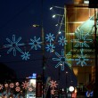 Christmas decorations and lights in Bucarest - Stock Photo