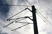Railways wires — Stock Photo