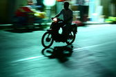Motorcycle drive in Greece — Stock Photo