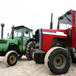 Tractor on a beach — Stock Photo