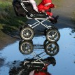 Child in a carriage — Stock Photo