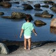 Foto Stock: Girl and water