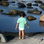 少女と水 — ストック写真