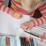 Child reading writting — Stock Photo #8399780