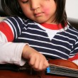 Violin child - Stock Photo