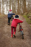 Children with bike — Foto Stock