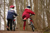 Children with bike — Stockfoto