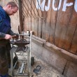 Blacksmith at work — Stock Photo