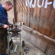 Blacksmith at work - Stok fotoğraf