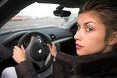 Kadın sürüş — Stok fotoğraf