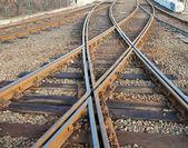 Rails crossing — Stock Photo