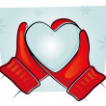 palčáky s studené srdce — Stock fotografie