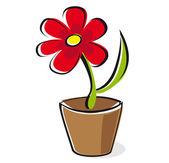 Red flower — Stock Vector